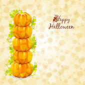 Happy Halloween greeting card — Vettoriale Stock