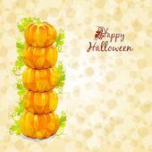 Tarjeta de felicitación feliz halloween — Vector de stock