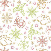 Christmas seamless pattern elements — Stock Vector