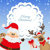 Santa Claus and reindeer background for Christmas — Stock Vector