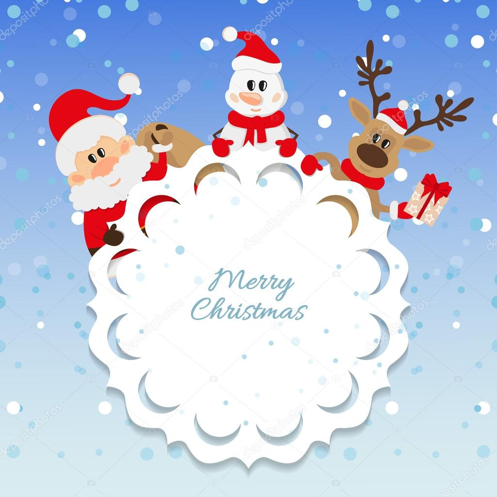 Santa Claus And Snowman Wallpaper Santa Claus Snowman And