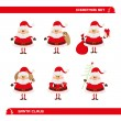 Set of Christmas Santa Claus — Stock Vector