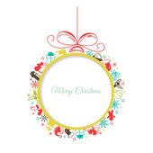 Merry Christmas card with Christmas ball — Vector de stock