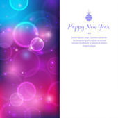Greeting card for happy new year — Stock Vector