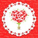 Postcard Happy Valentine's abstract tree of hearts — Stock Vector #37370753