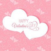 Postcard Happy Valentine's abstract — Vector de stock