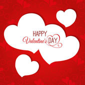 Valentine's day abstract background with hearts — 图库矢量图片