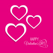 Stock Vector: Valentine's greeting card with pink hearts