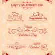 Stock Vector: Set of calligraphic greetings for Valentines day