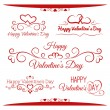Set of calligraphic greetings for Valentines day — Stock Vector #37755845