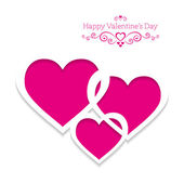 Valentine's greeting card with pink hearts — Stock Vector