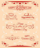 Set of calligraphic greetings for Valentines day — Vecteur
