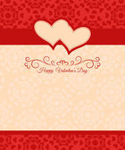Greeting card Happy Valentine's Day and wedding day — Stock Vector