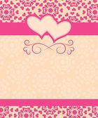 贺卡情人节快乐和婚礼那天 — 图库矢量图片