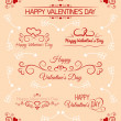 Decoration of cards for a Valentine's Day — Stock Vector