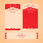 Card Happy Valentine's Day and wedding day — Stock vektor