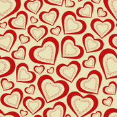 Seamless pattern hearts for Valentine's Day — Stock Vector