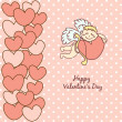 Card Happy Valentine's Day — Stock Vector #38106425