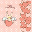 Card Happy Valentine's Day — Stock Vector
