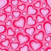 Pink hearts for Valentine's Day — Stockvektor