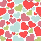 χωρίς ραφή πρότυπο καρδιές — Διανυσματικό Αρχείο
