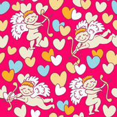Cupids for Valentine's Day — Vector de stock