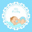 Greeting card with birth of boy — Stock Vector #41492569