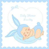 Baby shower little boy — Stock Vector