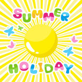 Summer background, summer holidays inscription — Stockvector