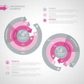 Business Infographics circle — Stock vektor