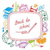 Back to school, school background — Stock Vector