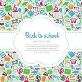 Tillbaka till skolan färgstarka bakgrund — Stockvektor