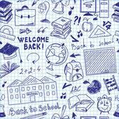 Ícones de escola escola tema — Vetor de Stock