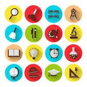 Set of 16 school icons — Stock Vector