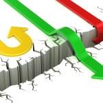 3d arrows success or failure concept — Stock Photo #15878277