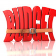 Stock Photo: Budget recession, deficit