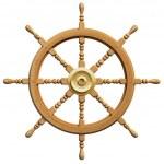 3d ship wheel isolated on white background — Stock Photo #15879157
