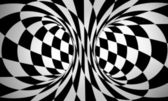 Abstract black and white 3d background — Stock Photo