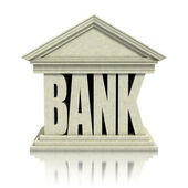 Bank 3d icon — Stock Photo