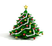 Christmas tree 3d illustration — Stock Photo