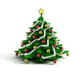 Boże narodzenie drzewo ilustracja — Zdjęcie stockowe