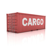 Container isolated on white — Stock Photo