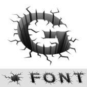 Cracked font letter G — Fotografia Stock