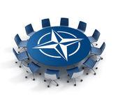 Nato meeting 3d concept — Stock Photo