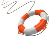 Lifebuoy in the air 3d illustration — Stock Photo