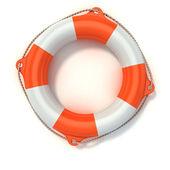 Lifebuoy 3d illustration isolated on white — Stock Photo