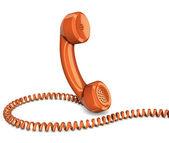 Telephone handset isolated — Stock Photo