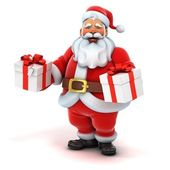 Santa claus holding presents — Stock Photo