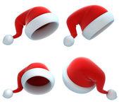 Noel baba şapkası set — Stok fotoğraf