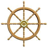 3d bateau roue isolé — Photo